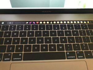 Touch Bar with emojis
